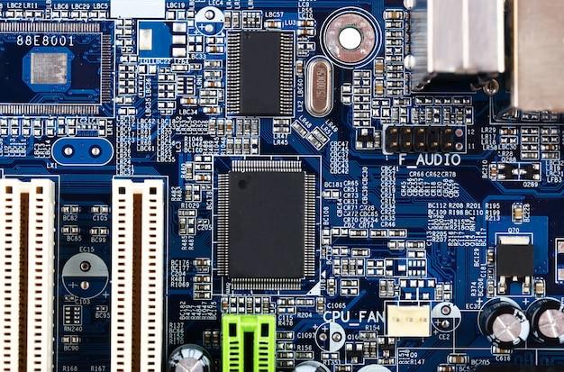 Placa-mãe computador closeup