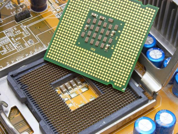 Placa-mãe de close-up. indústria de alta tecnologia.