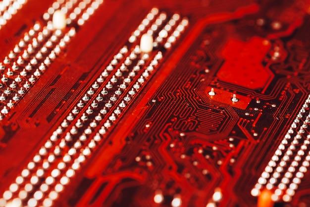Placa mãe de computador close-up