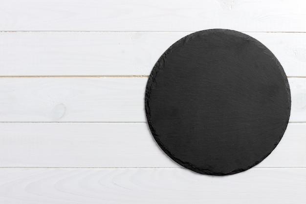 Placa redonda do suporte da ardósia