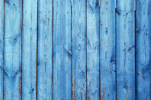 Placas de madeira azuis naturais