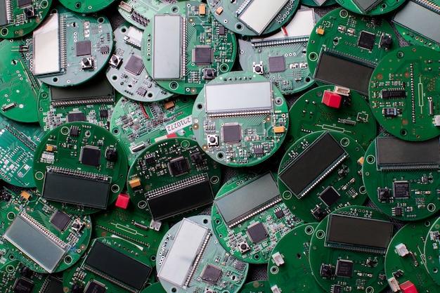 Placas eletrônicas redondas