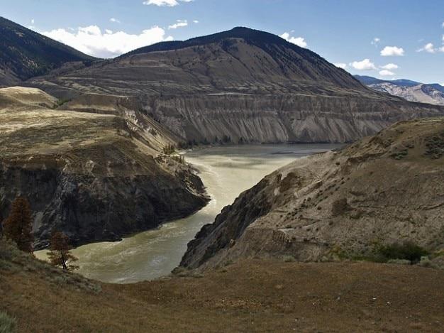 Planalto canadá fraser rio columbia britânica