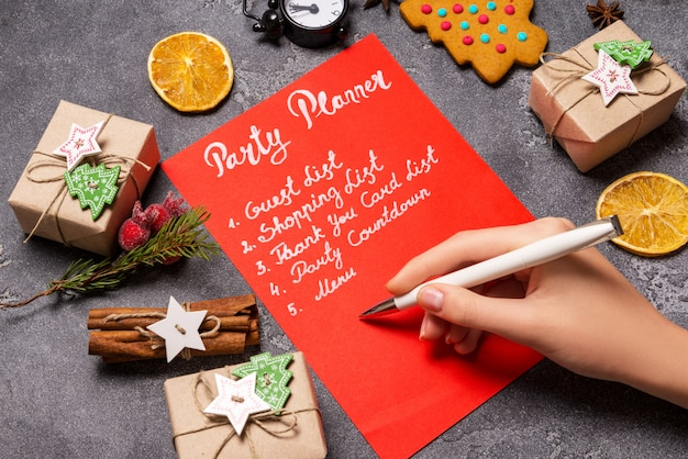 Planejador de festa de ano novo