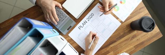 Planejamento de negócios da estratégia