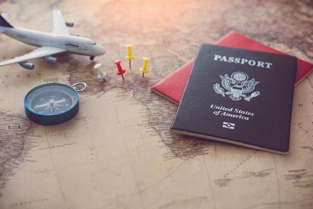 Planejamento de turismo e equipamentos necessários para a viagem