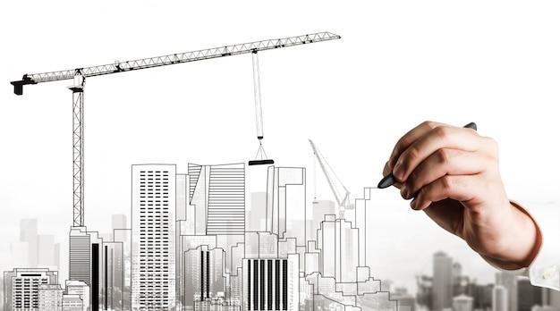 Planejamento urbano da cidade e incorporação imobiliária.