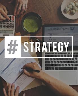 Planejar o ícone de comunicação de estratégia de planejamento