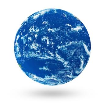 Planeta água desconhecido isoalted em fundo branco