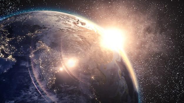 Planeta azul terra