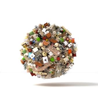 Planeta dos objetos e detritos