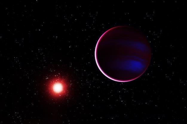 Planeta perto da estrela os elementos desta imagem foram fornecidos pela nasa. foto de alta qualidade