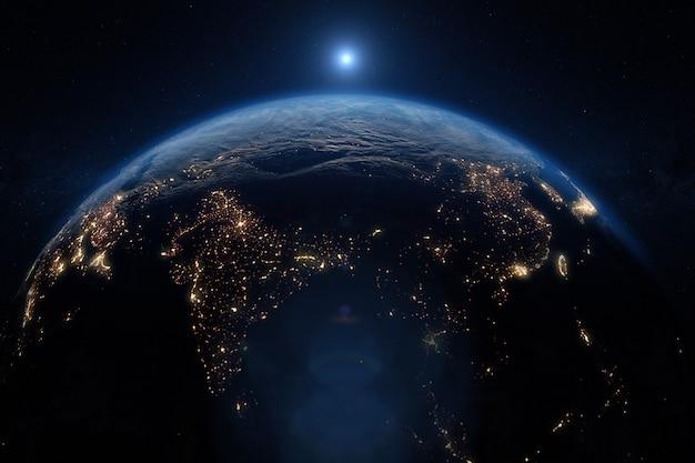 Planeta terra do espaço