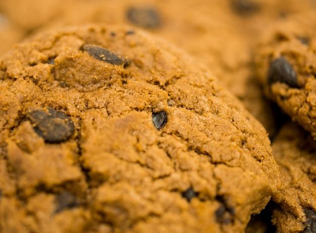 Plano aproximado de fundo de cookies