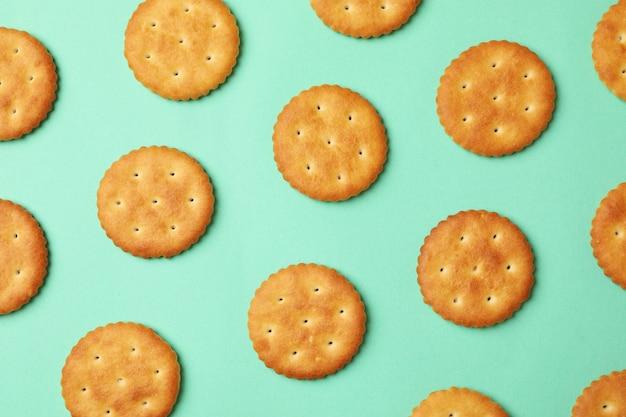 Plano com biscoitos cracker