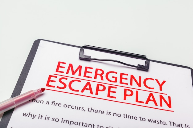 Plano de evacuação de emergência