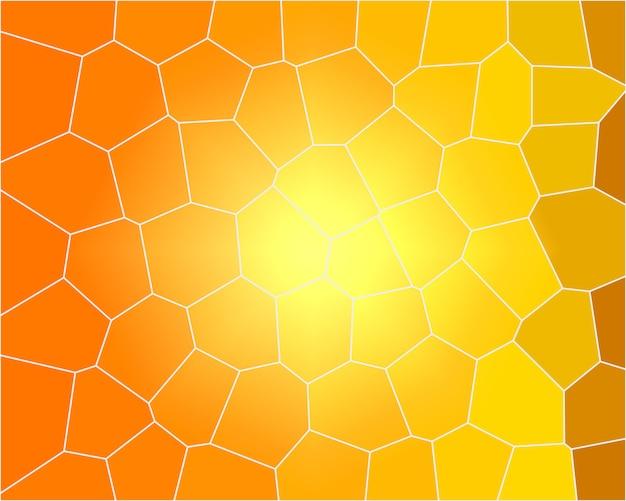 Plano de fundo amarelo laranja com ilustração de abelha do favo de mel close up
