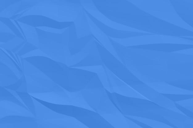 Plano de fundo azul papel amassado acima