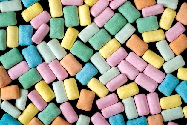 Plano de fundo colorido goma de mascar