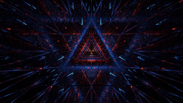 Plano de fundo cósmico de luzes de laser preto-azul e vermelho - perfeito para um papel de parede digital