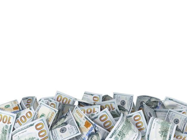 Plano de fundo das novas notas de dólar com espaço para o texto
