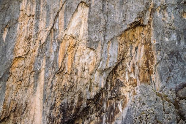 Plano de fundo de close-up de parede de montanha rochosa