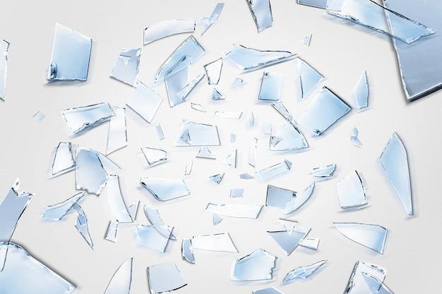 Plano de fundo de fragmentos de espelho azuis