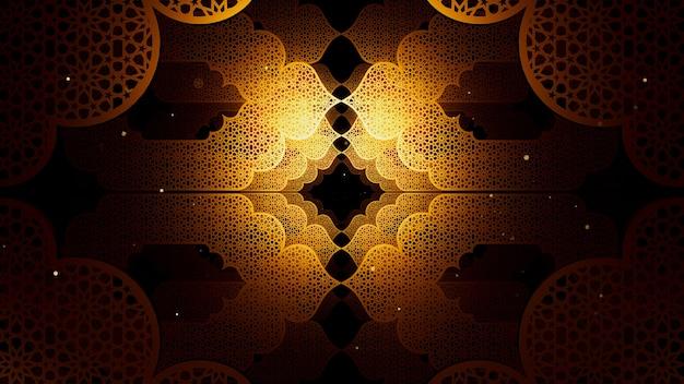 Plano de fundo de padrão islâmico para publicidade e papel de parede em padrão islâmico e cena do ramadã