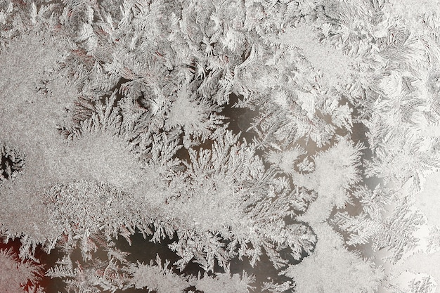 Plano de fundo de vidro natural congelado, vidro de janela com um belo padrão