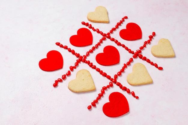 Plano de fundo dia dos namorados, cartão de dia dos namorados com rosas, vista superior
