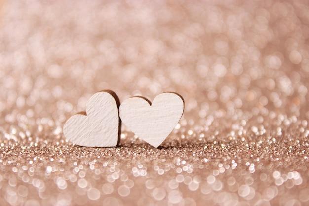 Plano de fundo dia dos namorados em corações de estilo minimalista