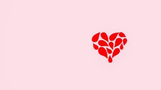 Plano de fundo do dia mundial do doador de sangue com espaço de cópia