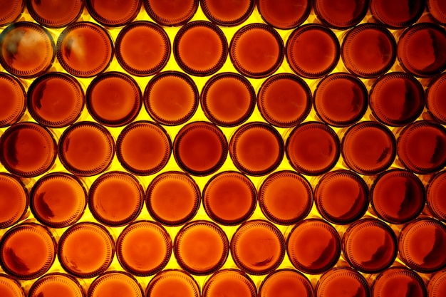 Plano de fundo do fundo de garrafas de laranja.