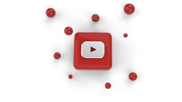 Plano de fundo do logotipo da mídia social do youtube