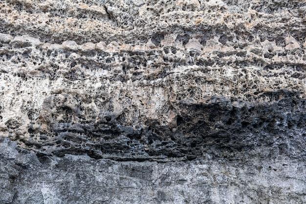 Plano de fundo e textura da montanha rochosa close-up