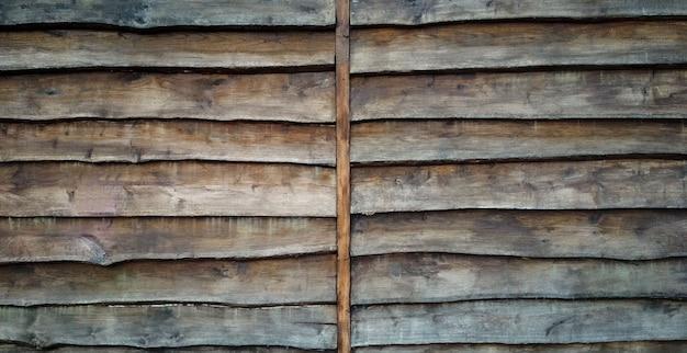 Plano de fundo em forma de parede de velhas tábuas de madeira derrubadas