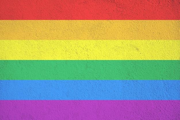 Plano de fundo grunge bandeira arco-íris, comumente conhecido como bandeira do orgulho gay ou bandeira do orgulho lgbtq