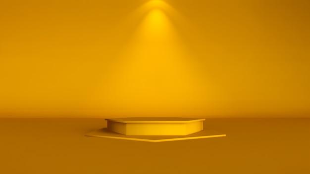 Plano de fundo mínimo, simulação de cena com pódio para exposição do produto. renderização 3d