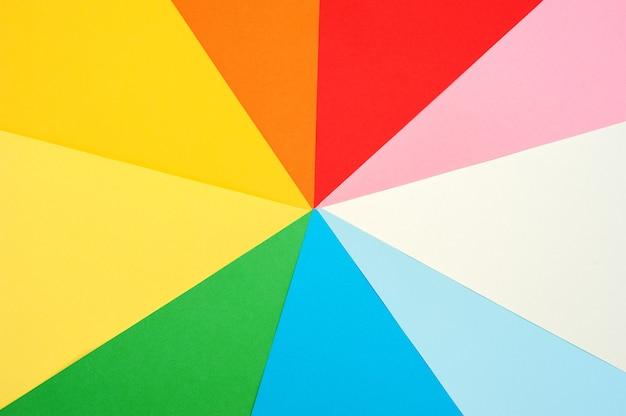 Plano de fundo multicolorido de papel colorido. papel colorido