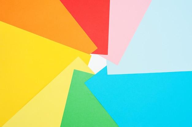 Plano de fundo multicolorido de papel colorido