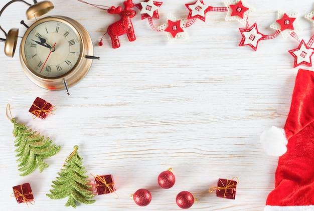 Plano de fundo natal e ano novo com cópia-espaço