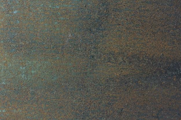Plano de fundo ou textura de metal da superfície do close up com arranhões, rachaduras e ferrugem, placa de aço