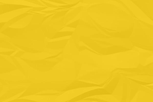 Plano de fundo papel amassado amarelo acima