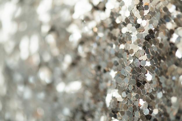 Plano de fundo texturizado com glitter prateado brilhante