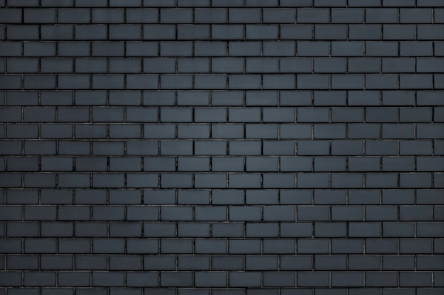 Plano de fundo texturizado de parede de tijolo cinza escuro