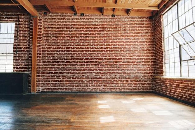 Plano de fundo texturizado de parede de tijolo vermelho grunge
