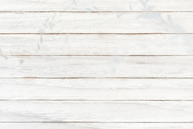 Plano de fundo texturizado de prancha de madeira branca