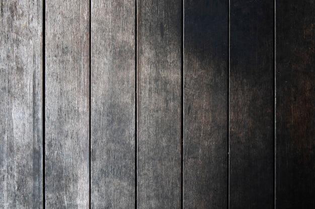 Plano de fundo texturizado de pranchas de madeira cinza escuro grunge