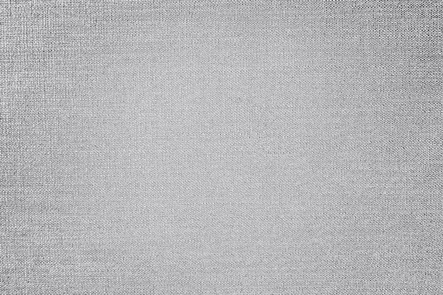 Plano de fundo texturizado de tecido de algodão prateado