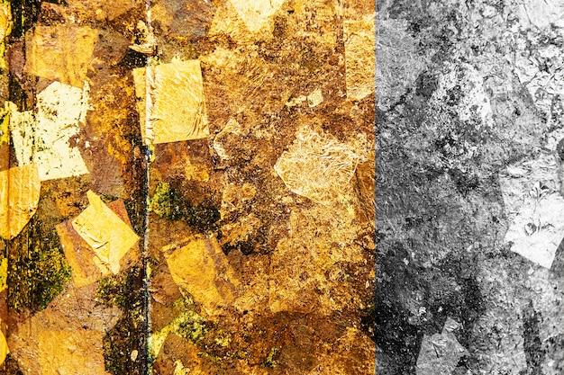 Plano de fundo texturizado dourado e prateado